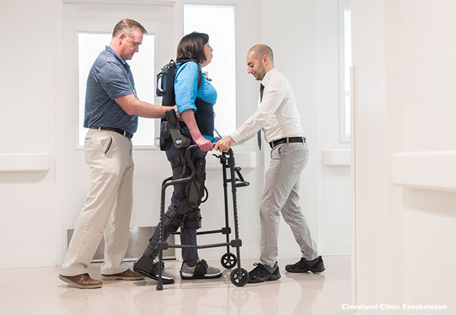 Exoskeleton Improves MS Patient's Walking Ability